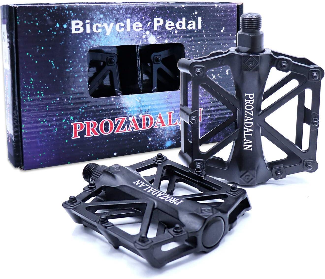 PROZADALAN Pedales Bicicleta, Pedals Impermeable 9/16 Pulgadas con Sellado Antideslizante Durable/Herramienta de Instalación Gratuita, para Bicicleta de Montaña BMX Universal Bike Bike Trekking Bike