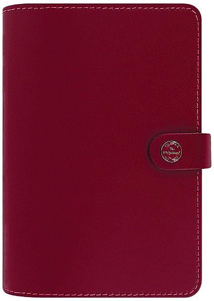 Filofax The Original - Organizador personal con anillas (cuero), rojo
