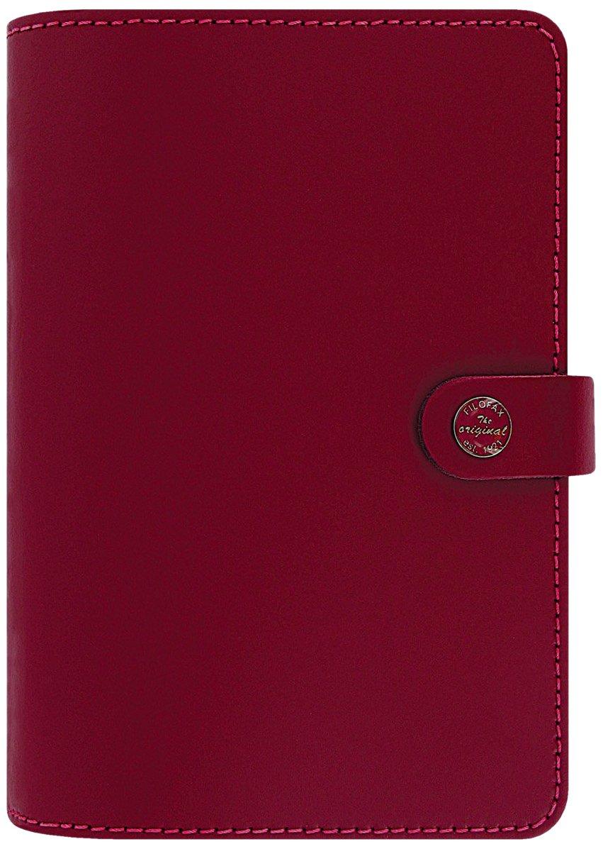 Filofax The Original Leather Organizer Agenda Calendar with DiLoro Jot Pad Refills (Personal, Pillarbox Red 2017, 022380)