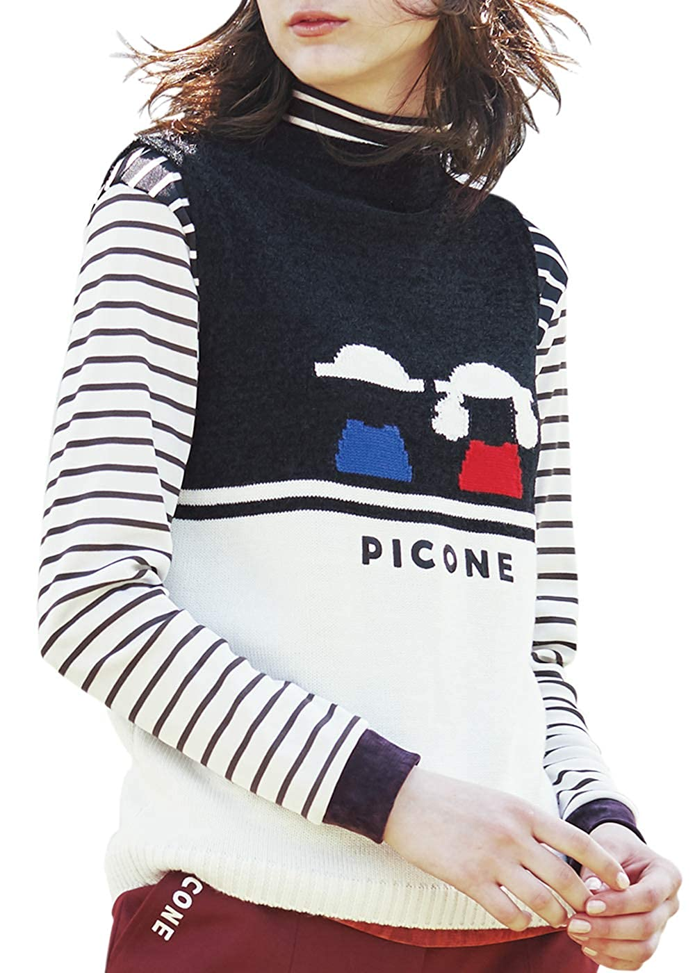 PICONE CLUB ピッコーネ クラブ ハイネックプルオーバー C819802 3 201 B07JLZ4FFM
