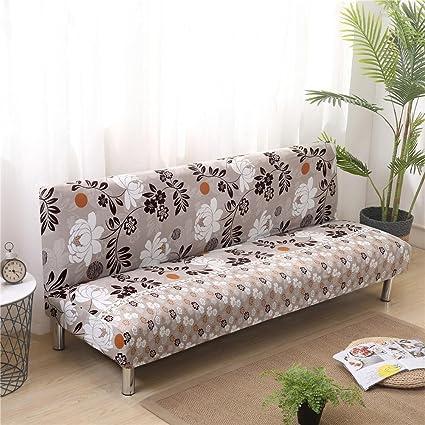Amazon.com: Armless Sofa Bed Cover Printed Elastic Sofa ...