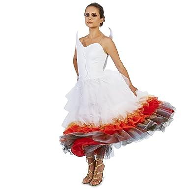 Amazon.com: Flaming Winged Wedding Dress Adult Costume: Clothing