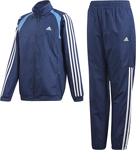 adyacente orientación hambruna  adidas Boys' Jb Woven Ts Tracksuit: Amazon.co.uk: Sports & Outdoors