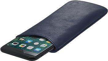 StilGut Pouch Custodia Smartphone Sleeve in Morbida Pelle di Nappa Misura L, Blu Scuro Nappa | Compatibile tra Gli Altri con Samsung Galaxy S7, Samsung S6 Edge ECC.