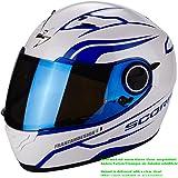 Scorpion Helm Motorrad exo-490Luz, Pearl White/Blue, M