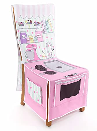 Amazon.com: Little Bakery Shop Play Kitchen Chair Cover: Toys & Games