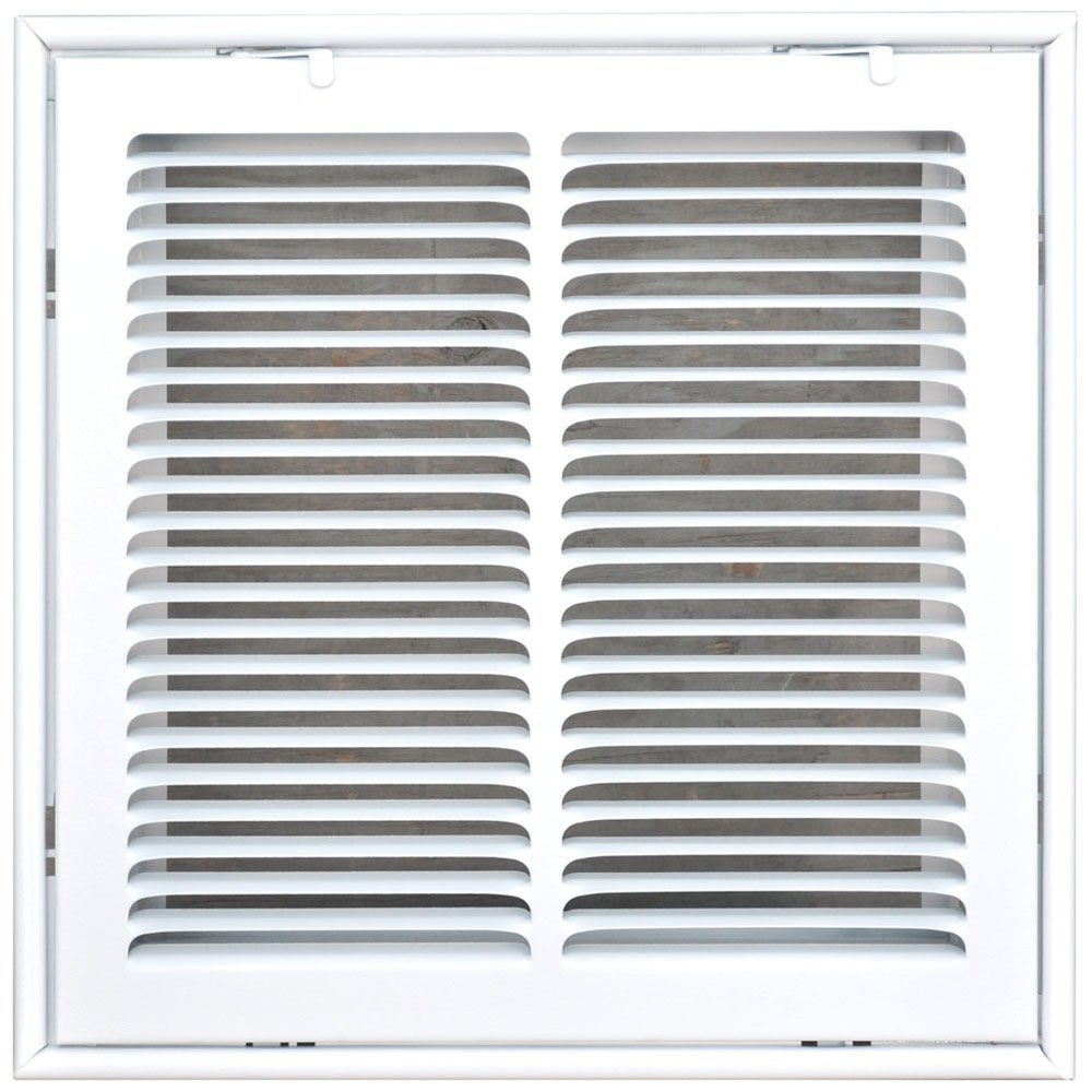 Speedi-Grille SG-1414 FG 14-Inch by 14-Inch White Return Air Vent Filter Grille with Fixed Blades