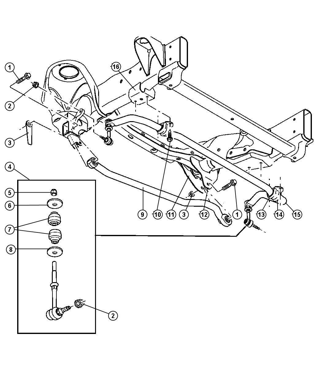 mopar 68001734ab sway bar link kit sway bars amazon canada ML320 Rear Stabilizer Bushing Diagram