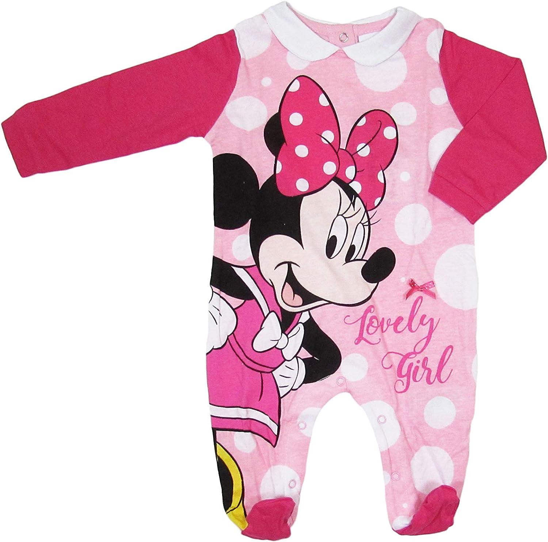 in Cotone a Pois Disney Tutina neonata Minnie Mouse Maniche Lunghe Art 46365