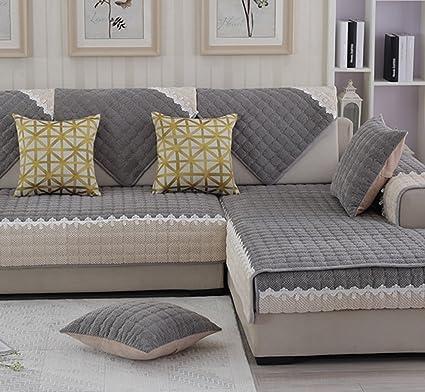 ZebraSmile 1 Pcs Various Sizes Corduroy Sofa Towel Cover Decrotive Sofa  Cover Antiskid Sofa Cover For