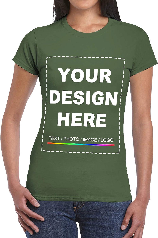 Custom Women/'s T-Shirt Personalised Tee Custom Text Here T-Shirt Your Text Here Women/'s T-Shirt Custom T-Shirt Design Your Own T-Shirt
