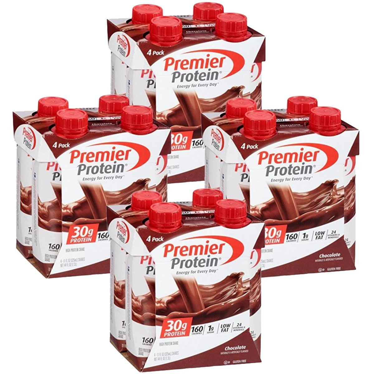 Premier Protein 30g Protein Shakes, Chocolate, 11 Fluid Ounces, 4 Count (Pack of 4)