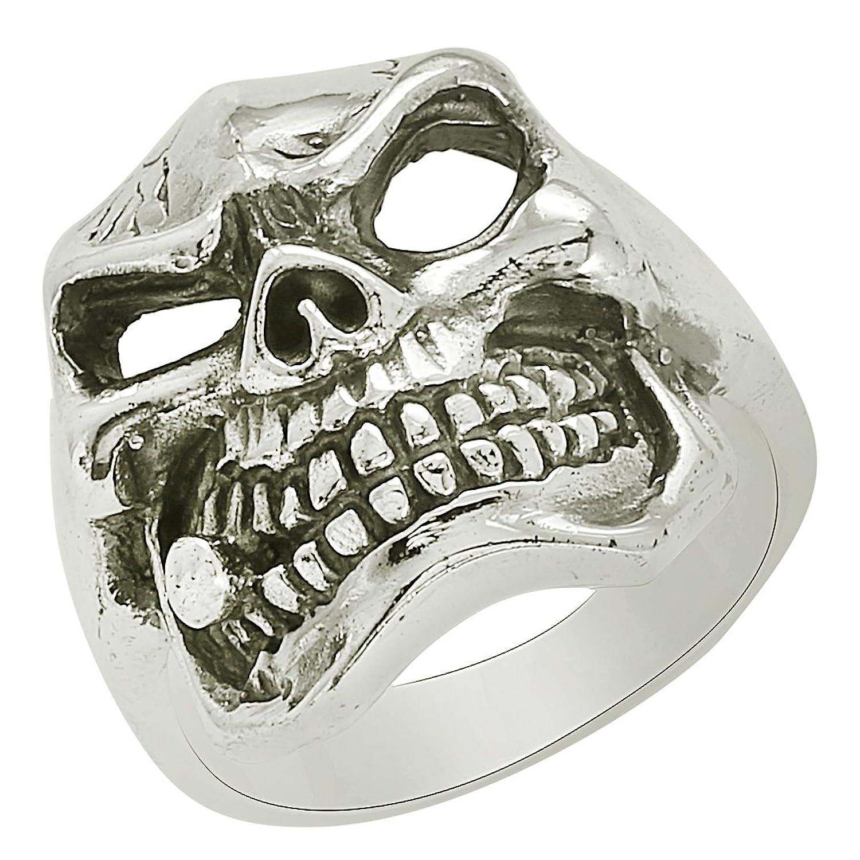 Stainless Steel Black Open Love Heart Fancy Ring