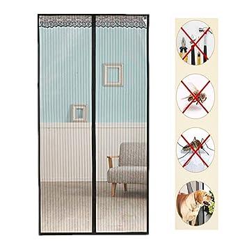 Fliegengitter T/ür Insektenschutz Fliegengitter Magnetvorhang f/ür Balkont/ür Schiebet/ür Terrassent/ür 90x210,Braun