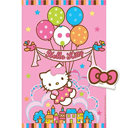 Amazon Com Hello Kitty Pin The Bow Party Game Birthday And Theme