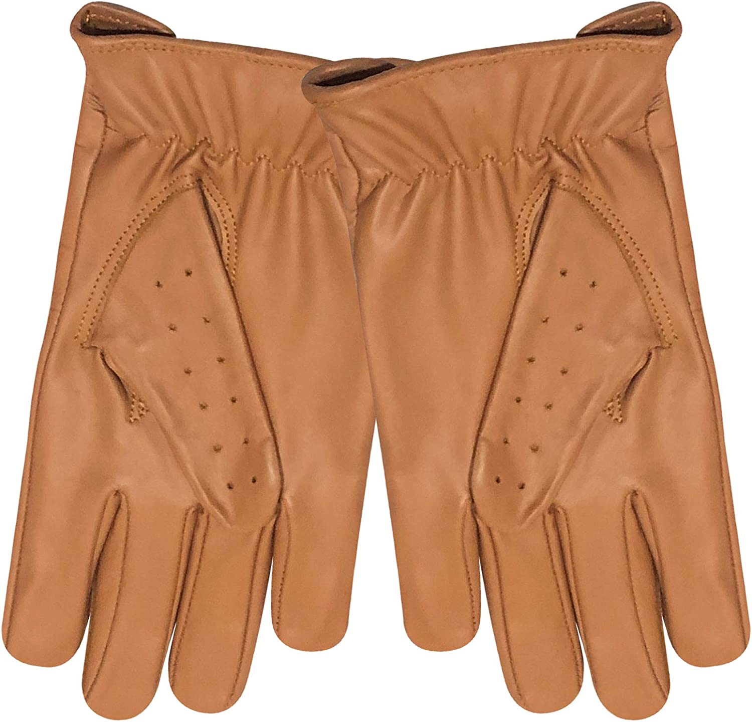 Mens Classic Genuine Cow Nappa Leather Driving Motorbike Dress Fashion Gloves Pair 507