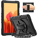 """Timecity Case Compatible with Galaxy Tab A7 10.4"""" 2020/ SM-T500/T505/T507, with Built-in Screen Protector&360 Degree Swivel S"""