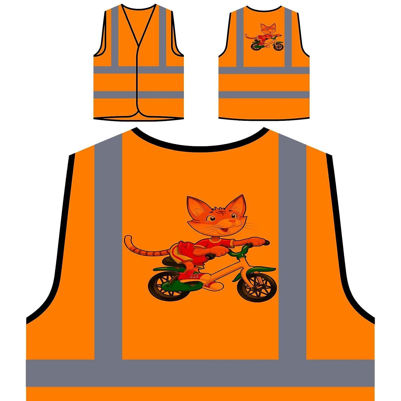 Divertida Bicicleta De Montar A Caballo Chaqueta de seguridad naranja personalizado de alta visibilidad q633vo