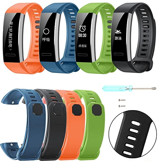 Amazon.com: Mike Franklins Silicone Replacement Band Wrist Strap for Huawei Band 2/Band 2 pro Smart Watch (Green): Cell Phones & Accessories