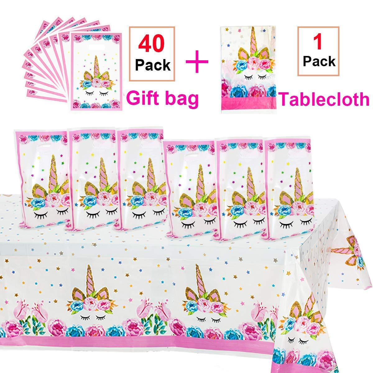 Micher Unicorn Party Supplies, 40 Pack Unicorn Plastic Bags ...
