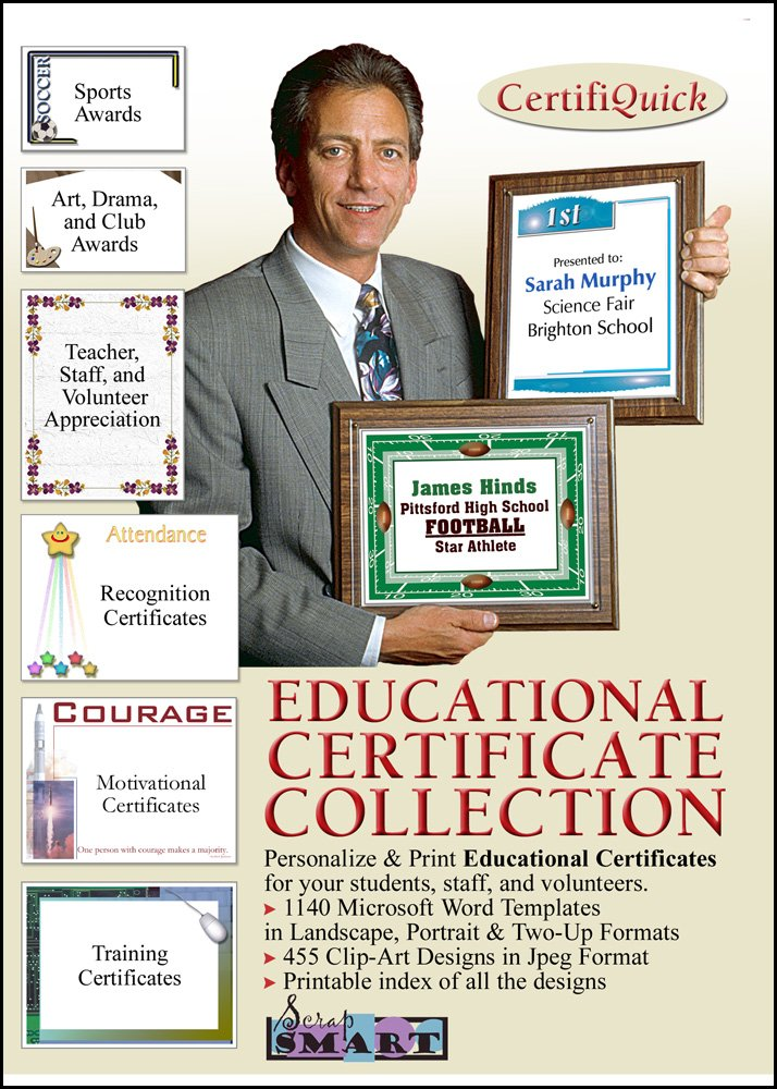 ScrapSMART - CertifiQuick - Educational Certificate - Software Collection - Jpeg & Microsoft Word files [Download] by ScrapSMART