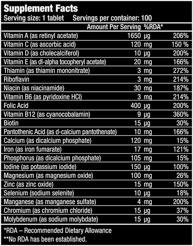 Bio Tech USA One a Day 100 pastillas, pack individual (1 x 170 g).: Amazon.es: Salud y cuidado personal