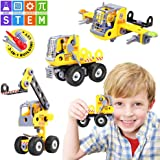 Betheaces Stem Learning Kids Toys Construction Set Assembling Engineering Educational Building Blocks 3-in-1 Transform Truck Airplane Crane Toy DIY Take Apart Puzzles for Boys and Girls Gift