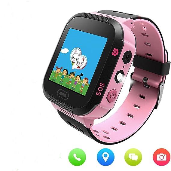 0f5a050273195 GPS Tracker niños reloj inteligente con cámara para niños niñas Juego de  matemáticas reloj despertador Celular