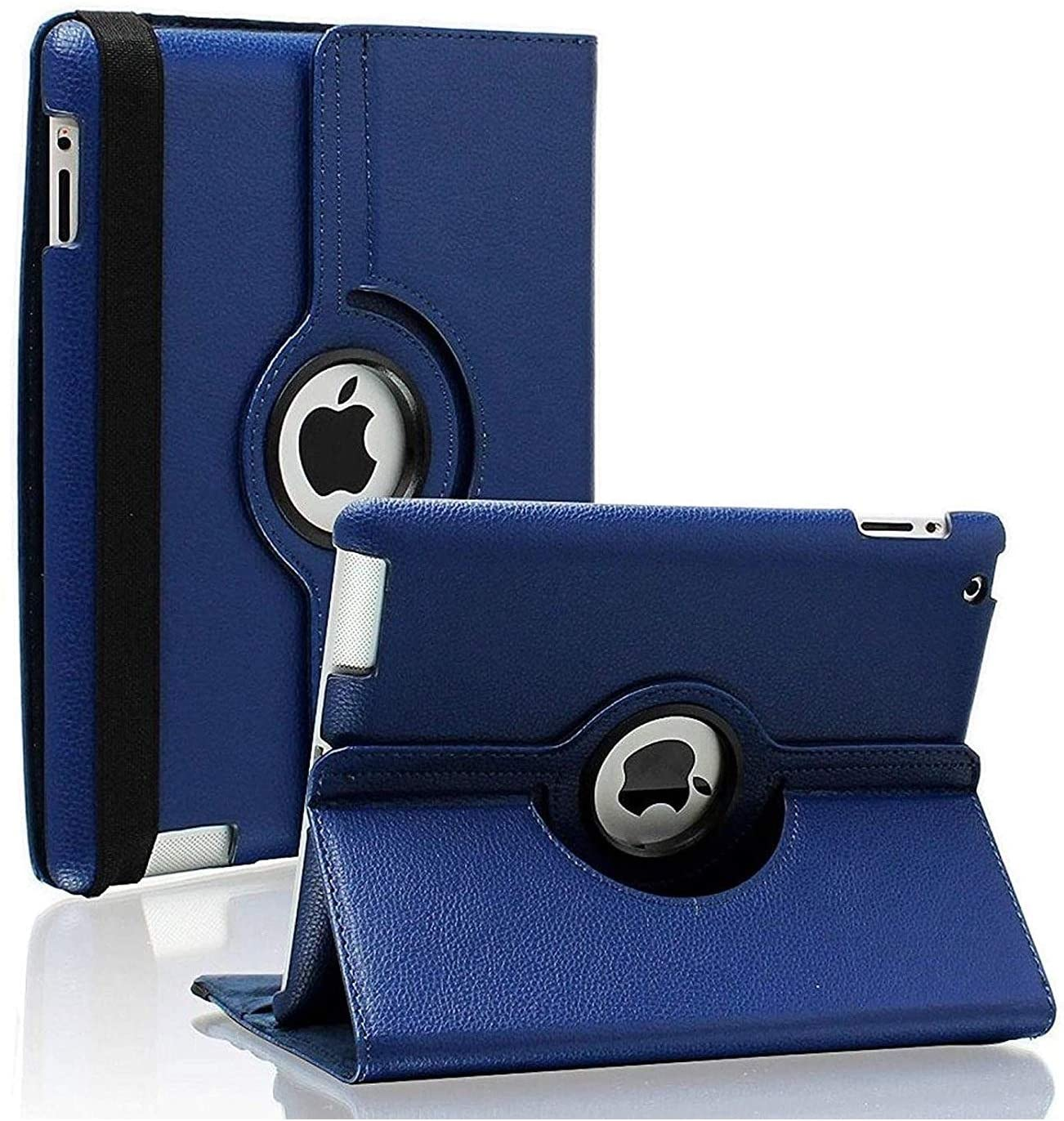 iPad 2/3/4 Case - 360 Degree Rotating Stand Smart Case Protective Cover with Auto Wake Up/Sleep Feature for Apple iPad 4, iPad 3 & iPad 2 (Navy)