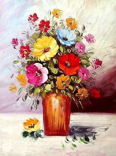 Amazon.com & Amazon.com: Blingbling Art Floral Vase Painting Classic ...