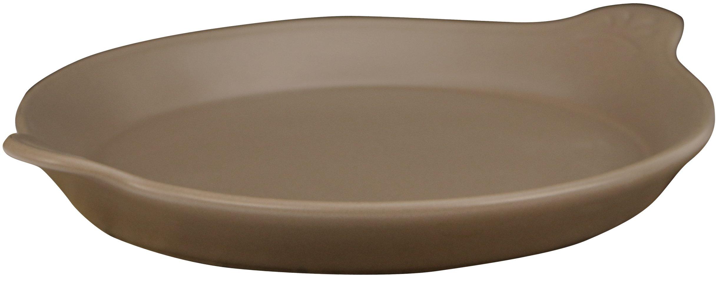 Eurita by Reston Lloyd Flame Safe Au Gratin Porcelain Pan, Small, Mocha by Reston Lloyd