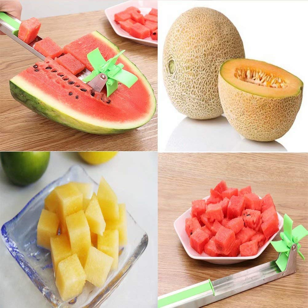 Watermelon Slicer, Melon and Cantaloupe Fruit Slicer, Carver, Cutters, Professional Restaurant Chef Engraving and Cutting Tools
