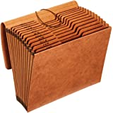 Globe-Weis/Pendaflex Heavy Duty Expanding File with Flap, 12 Monthly Pockets, 1/3 Cut Tabs, Brown, Letter Size (R117MLHD…