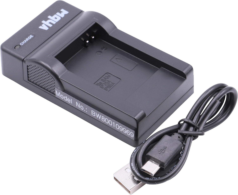 Vhbw Usb Akkuladegerät Kompatibel Mit Samsung Bp 70a Kamera