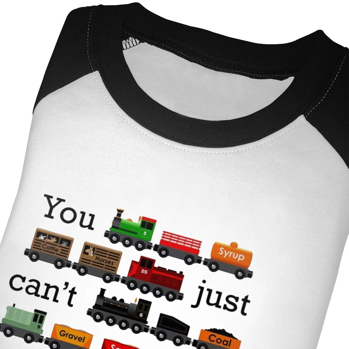 Yimo Many Trains Unisex Toddler Baseball Jersey Contrast 3//4 Sleeves Tee