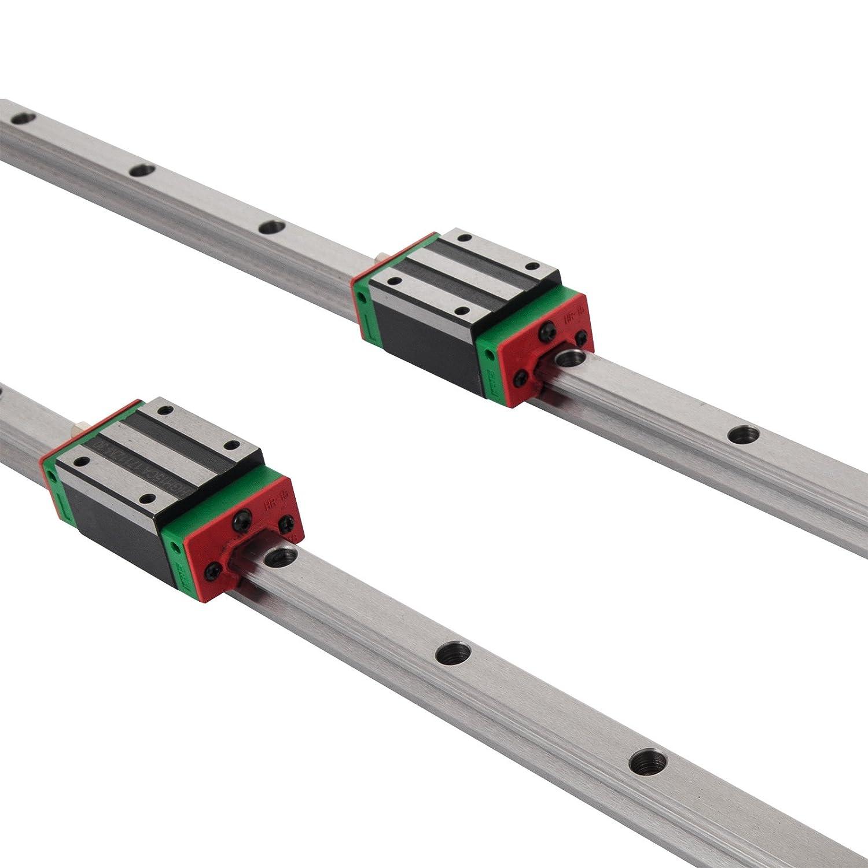 ... barra deslizante lineal + 4 x bloques de almohada, bloque de rodamientos de carrocería, guía lineal para máquinas y equipos automatizados: Amazon.es: ...