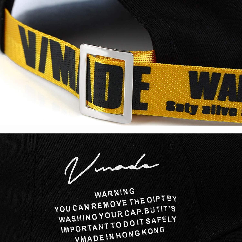 Super Warning Long Ribbon Baseball Letter Cap for Adult Men Women Hip Hop Dad Hat Bone Garros