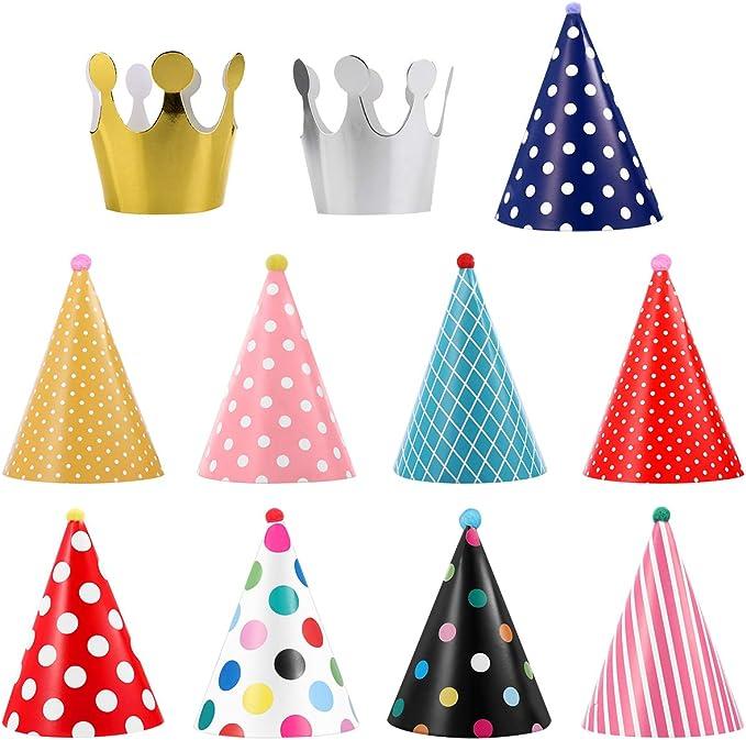 Amazon.com: ueetek 11 piezas fiesta de cumpleaños cono ...
