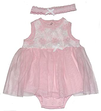 a7c04c00b18d Amazon.com  Little me Baby-girlks Pink Daisy Popover with Headband ...