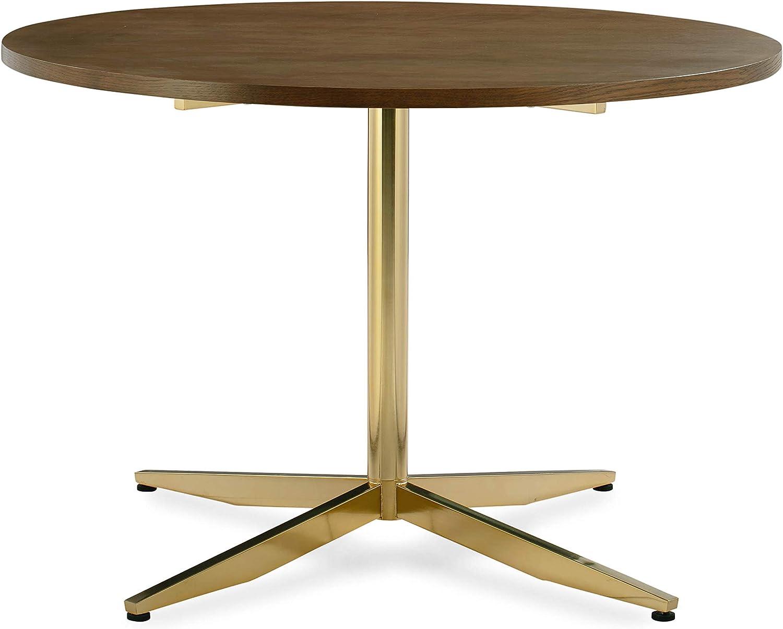 """POLY & BARK Geneva 43"""" Dining Table in Brass"""