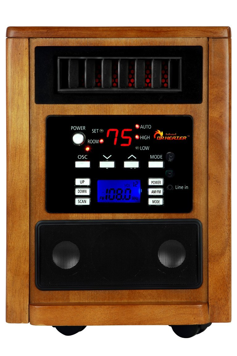 Infrared Heater for Large Room with AM/FM Radio
