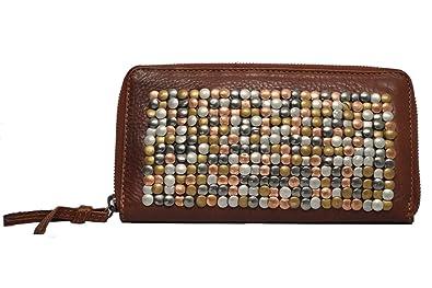 2da482a80df Cowboysbag Bradford 1124 purse with rivets, leather wallet, cognac, 21x12x2  (W x