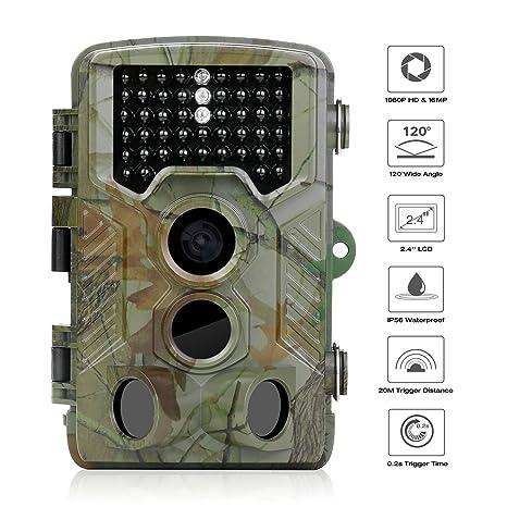 Wild Cámara de colleer, 1080p HD/120 ° Gran Angular Vigilancia Infrarrojos, alcance
