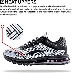 new styles c5287 7cde9 ONEMIX Chaussure de Course Homme Sneakers Loisir Coussin d air ...
