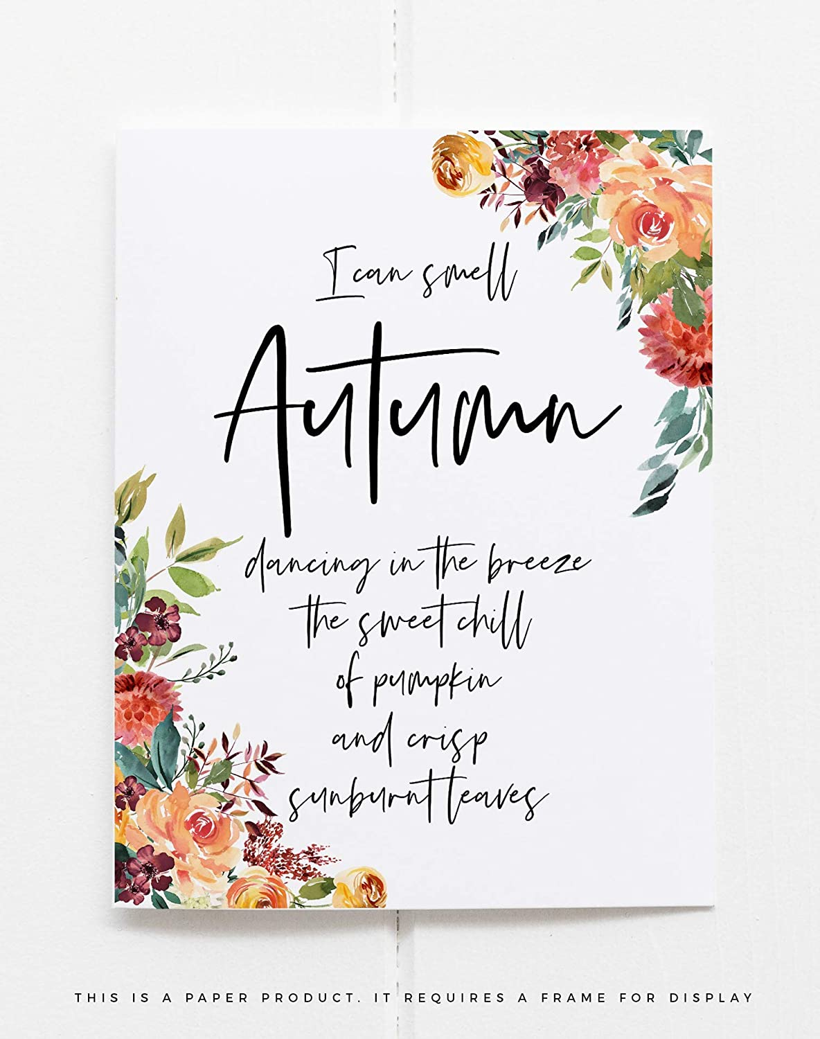 com fall quote home decor autumn art print thanksgiving