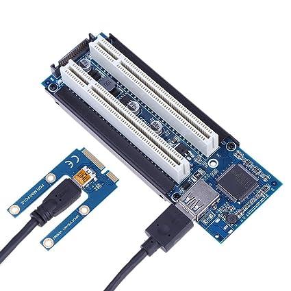 Mini PCI-e a Dual PCI Adaptador de Tarjeta para capturar ...