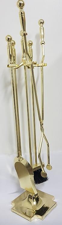 color dorado ADGO Juego de 4 herramientas para chimenea dise/ño antiguo
