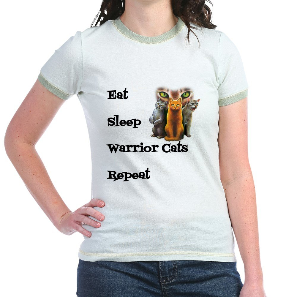 Eat Sleep Warrior Cats Repeat T Shirt Jr Ringer T Shirt Ringed Shirt 4521