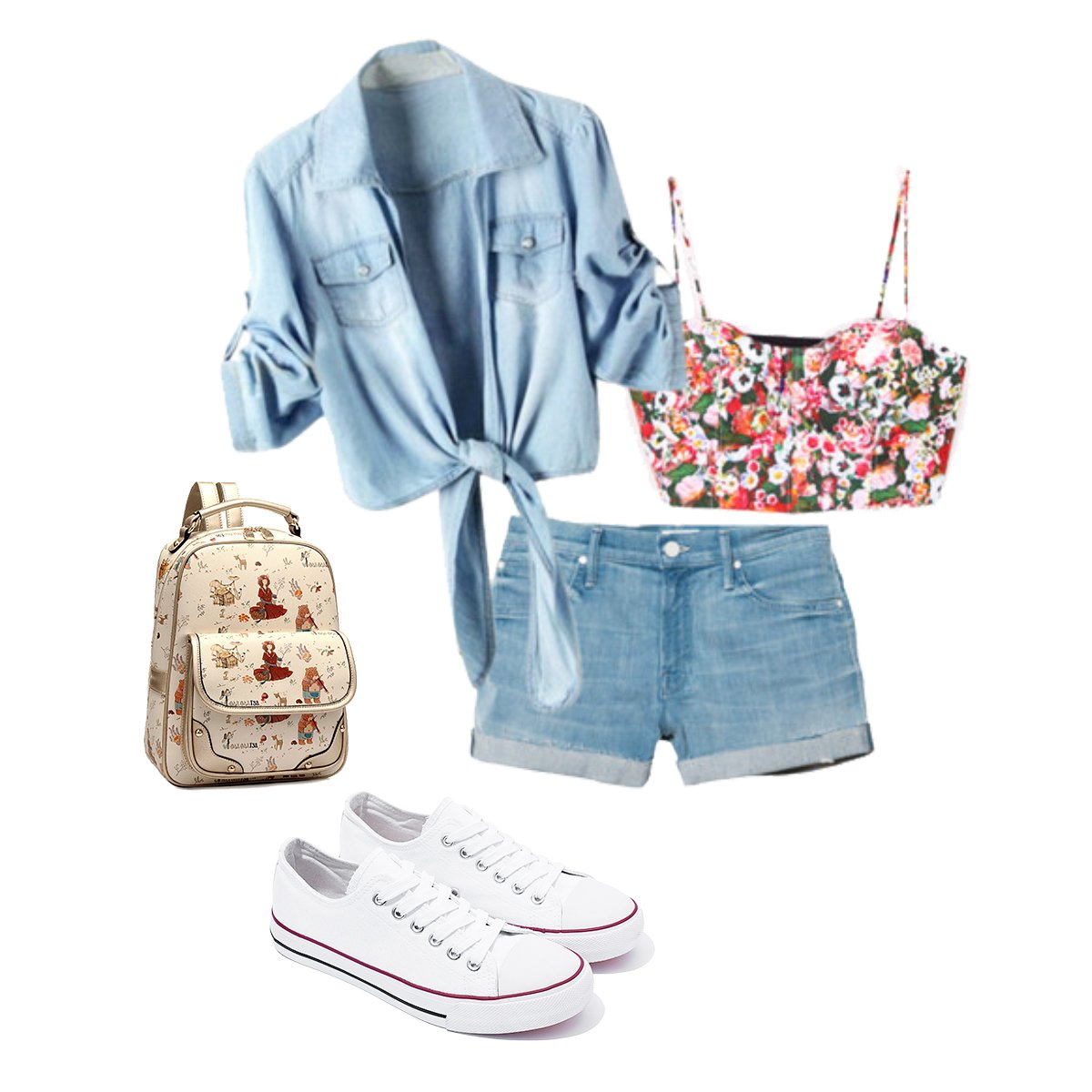 AOMAIS Womens Canvas Shoes Sneaker Low Top Lace up Fashion Walking Shoes (US7, white1) … by AOMAIS (Image #7)