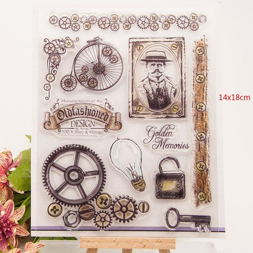 Kofun DIY Scrapbooking Transparent Stamps Silicone Rubber Clear Sheet DIY Card Gift Crafts Vintage